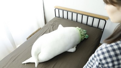 115cm「癒系大根抱枕」有超性感屁溝 好想從背後掐一把