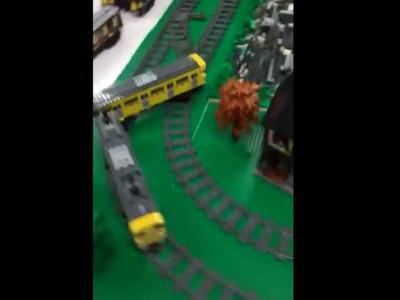 沒時間解釋快上車!自搭「雙線甩尾」火車軌道,那車廂好像在飄移