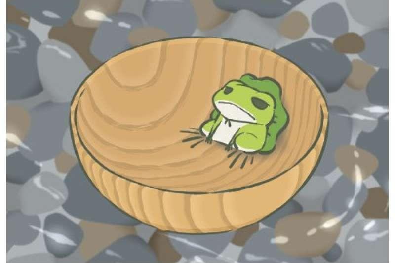 ▲▼旅行青蛙。(圖/取自微博和遊戲畫面截圖)