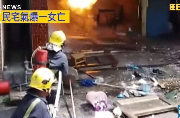 ▲▼屏東枋寮民宅氣爆火警。(圖/東森新聞)