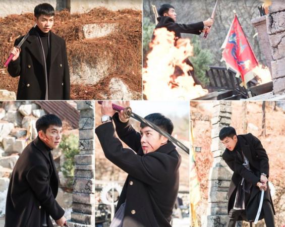 ▲李昇基滿臉血壯烈表情赴死。(圖/翻攝自tvN)