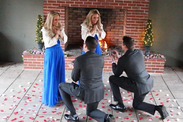 ▲▼雙胞胎神奇吸引!姐妹煞到兄弟狂喊「我的菜」 4人浪漫結婚。(圖/翻攝自臉書/Brittany Deane)
