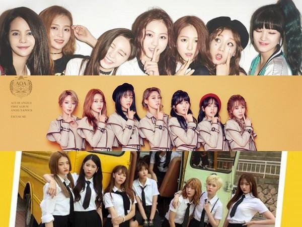 ▲《Produce 48》流出參賽名單!(圖/翻攝自AOA、CLC、DIA臉書)