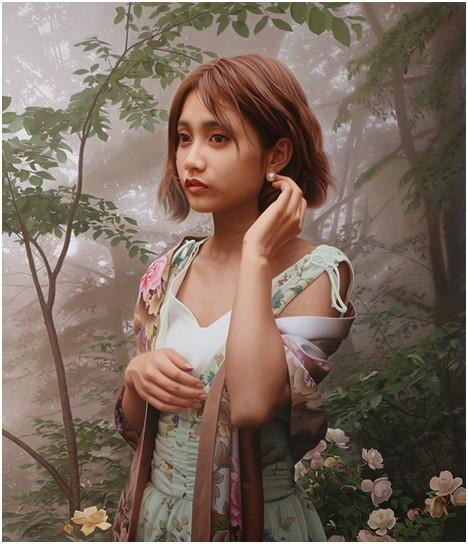 ▲▼眼睛好像在眨!日藝術家精美肖像媲美照片,人物彷彿會呼吸(圖/翻攝自Twitter)
