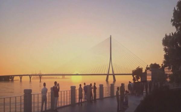 ▲▼淡江大橋。(圖/公路總局提供)