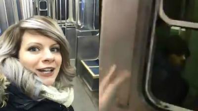 搭到無人車廂好嗨桑 正妹忘情放聲高歌卻驚見厭世乘客