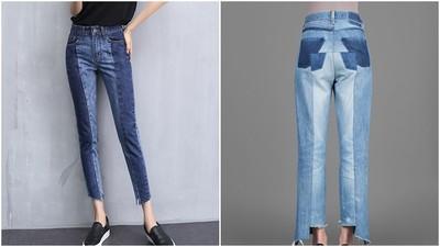 神奇の拼接牛仔褲←粗大腿、肥屁屁的妳,想瘦必須買!