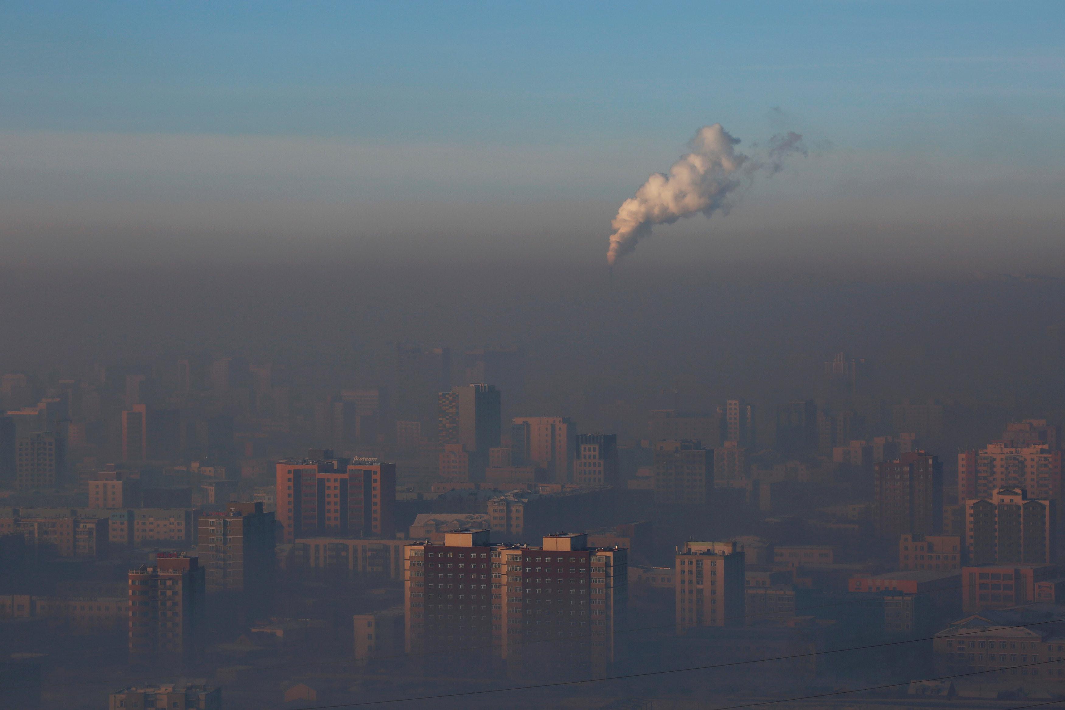 ▲▼蒙古空氣汙染。(圖/路透)