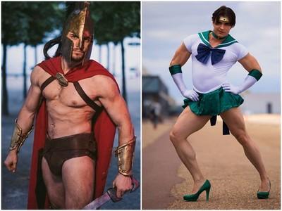 法國大肌哥Cosplay水手海王星 「高跟鞋+迷你裙騷樣」激起退讚潮