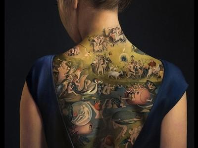 經典畫作《人間樂園》在美背上重現,但其實連女孩都是幅畫