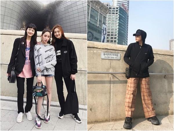 ▲▼歐陽妮妮和李家安,最近更新照片的地點,都在南韓時裝周秀場。(圖/翻攝自歐陽妮妮、李家安Instagram)
