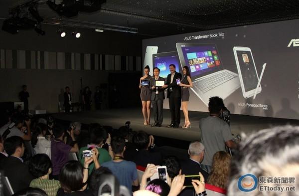 電腦展前華碩玩變型 筆電、平板、手機變態規格嗆宏碁