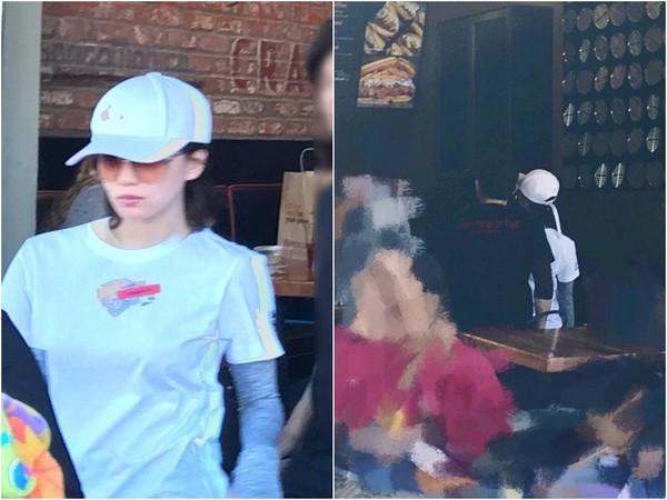 ▲▼吳奇隆帶劉詩詩蜜遊LA,人群中「護妻行動」全被拍下,甜翻眾人。(圖/翻攝自YouTube、取自微博)