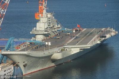 陸第3艘航母正在船台上建造中