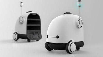 誰家的吸塵器跑上街?!別怕,那是南韓炸雞外送機器人