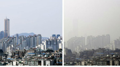 連上學都不敢!濃重霧霾「吞掉南韓天際線」20萬人怒要習近平負責