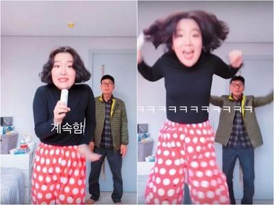 爺爺趁韓妞熱舞時亂入「傻一秒跟著跳」 網友:小丸子和友藏翻版
