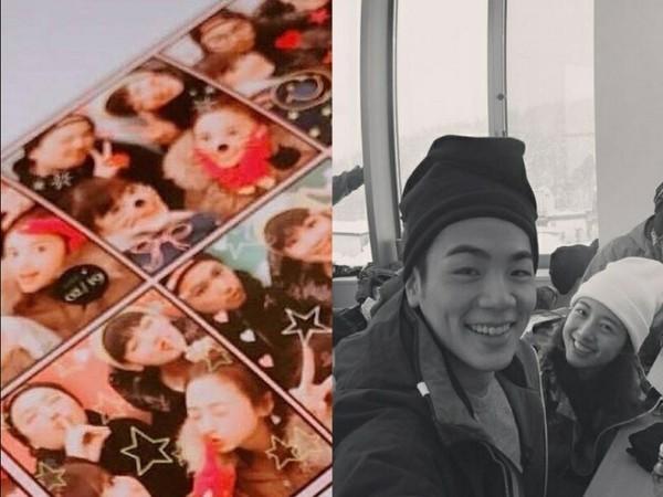 ▲鬼鬼被發現,多張和布魯斯穿著相同的照片,連睡衣照、同遊日本的私照都有。(圖/翻攝自微博)