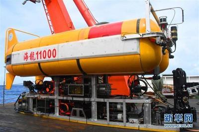 陸自主研發潛水器「海龍11000」海試成功