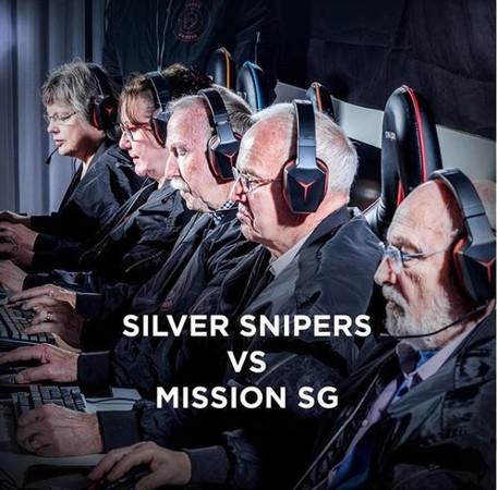 ▲▼瑞典平均年齡71歲電競戰隊伍「銀色狙擊手」(Silver Snipers)。(圖/翻攝自IG/lenovosweden)