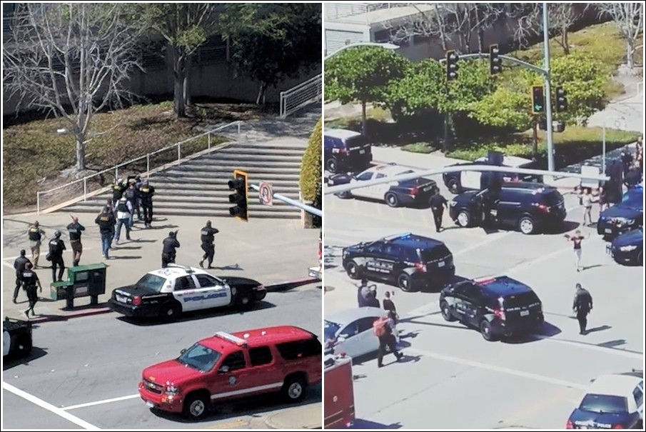 ▲YouTube加州總部驚傳槍擊。(圖/路透社)