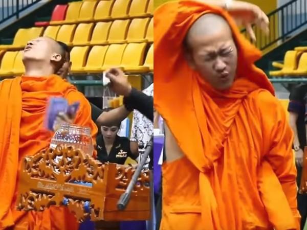 ▲▼徵兵抽籤秒中「紅籤」 年輕僧侶當場軟腳嚇暈。(圖/翻攝自YouTube)