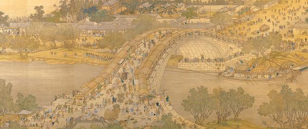 北宋畫家張擇端筆下的「清明上河圖」。(圖/取材國立故宮博物院網站)