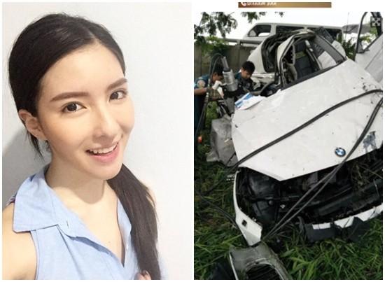 ▲泰国女星Inn车祸身亡。(图/翻摄自thairath)