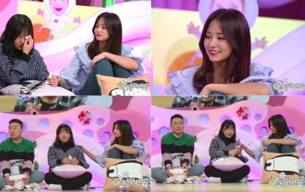 ▲子瑜在節目上被拍到國中少女,受到韓網友稱讚。(圖/翻攝自《大國民脫口秀-你好》)