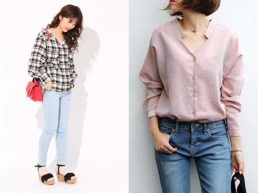 ▲搭上牛仔窄管裤,阳光又时尚。(图/翻摄自(左)Heather、(右)Pinterest)