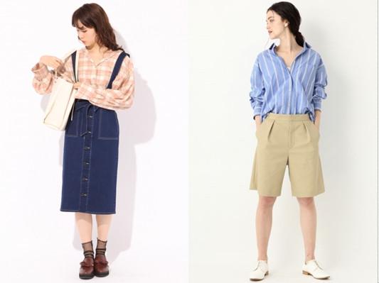 ▲选择格纹或条纹,和服领衬衫活泼又可爱。(图/翻摄自Heather、apartbylowrys)