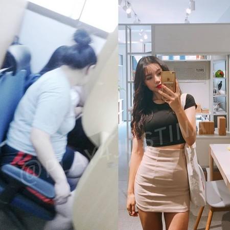 ▲南韓YouTuber健康瘦下半個自己。(圖/翻攝自instagram@play4justina)
