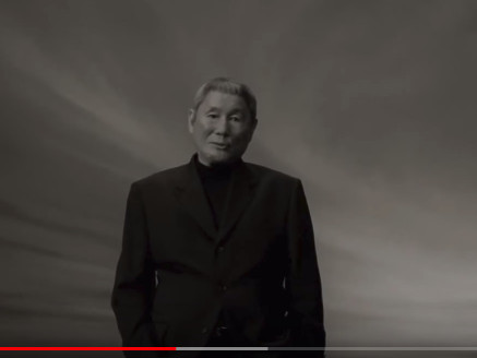 ▲北野武拍攝廣告。(圖/翻攝自YouTube)