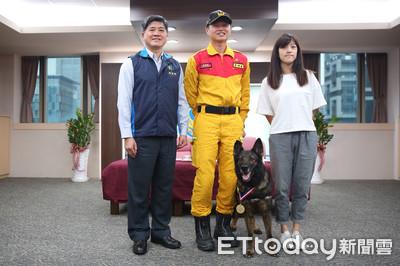 退休搜救犬Ruby獲頒「榮譽市犬」