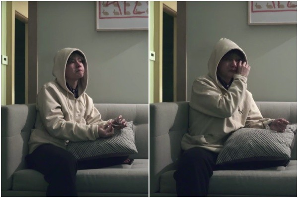 ▲▼防彈少年團V和JIN的後台爭吵。(圖/翻攝自YouTube)