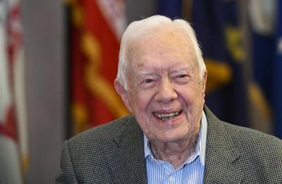 95歲美前總統卡特跌倒縫14針