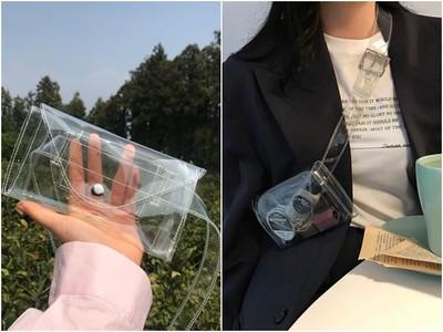 時尚界的百變怪「透明腰包」 放片衛生棉也很潮(如果妳敢