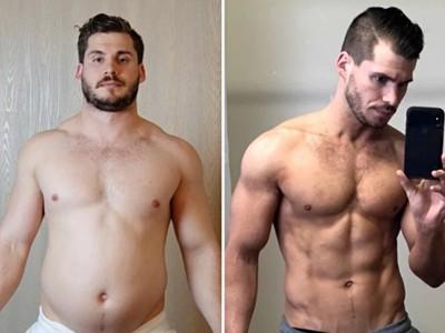 「翻三次月曆」瘦成真空包! 肥肚男縮時紀錄驚人減肥史