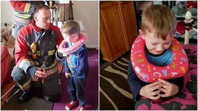 3歲亞斯伯格病童「把馬桶座卡頭上」 消防員暖心救護
