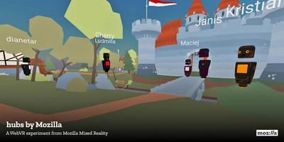 Mozilla推出VR聊天室Hubs