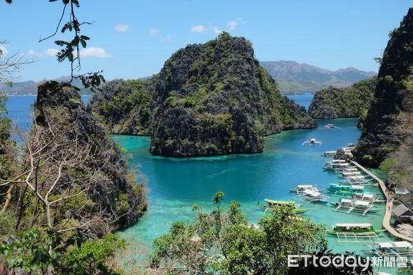 ▲菲律賓巴拉望科隆跳島。(圖/記者于佳云攝)
