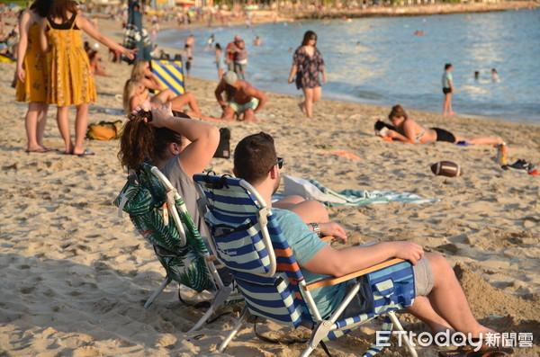 ▲▼夏威夷,hawaii,Waikiki beach,威基基海灘,海景,夕陽,日落。(圖/記者盧映慈攝)