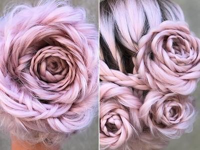 超浪漫「玫瑰編髮」!只要麻花辮多繞一圈,手殘也能開好花兒~