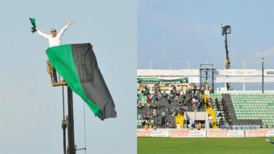 土耳其球迷被禁止入場1年 他改租吊車當「VIP」看球超霸氣