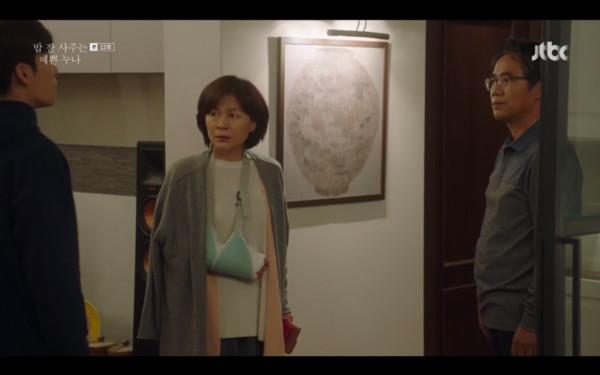 ▲弟弟終於站出來為尹珍雅說話,媽媽無語。(圖/翻攝自JTBC)