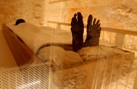 ▲▼ 埃及圖坦卡門墓牆後秘室消失了。(圖/路透社)
