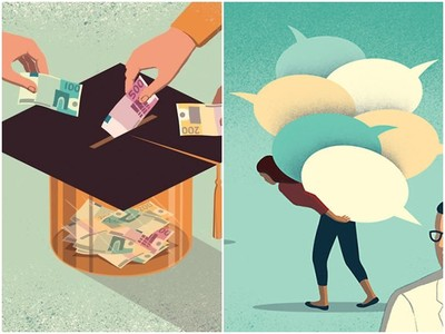 想擁高學歷先掏錢!插畫家用「反思插圖」畫出社會病態真相