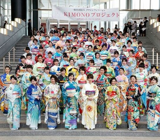▲ 100件和服共同展出,相當搶眼。(圖/翻攝自kimonoproject instagram)