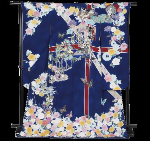 ▲ 英國的和服上可看見電影《007》的元素與國旗            。(圖/翻攝自kimono project官網)