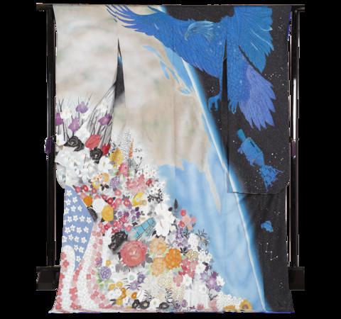 ▲美國的和服上,可以看見阿波羅計畫的太空人以及老鷹。(圖/翻攝自kimono project官網)